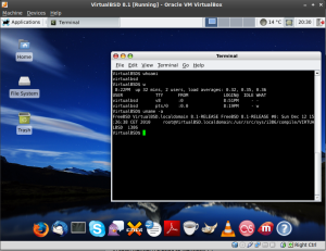 VirtualBSD running in VirtualBox